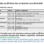 Zájmové útvary 2019_2020